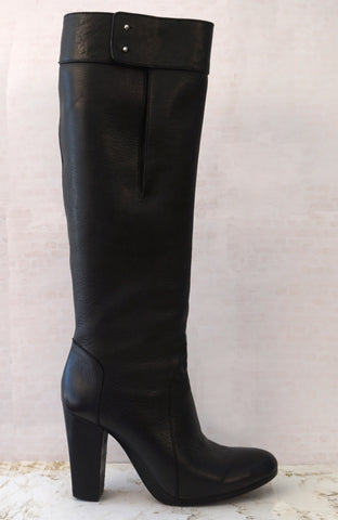 3.1 PHILLIP LIM 39 Moss Tall Black Leather Boots 8.5