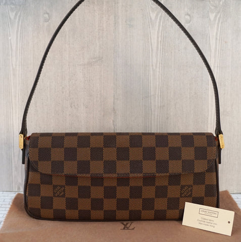 LOUIS VUITTON Damier Ebene Recoleta Small Shoulder Bag