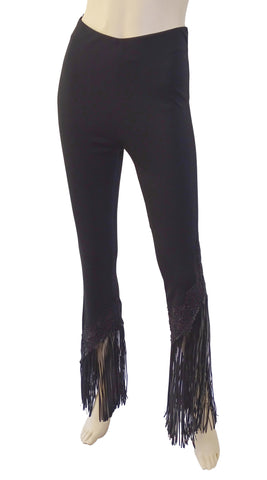 JIKI High-RIse Leather-Fringed Pants FR 38 / US 6