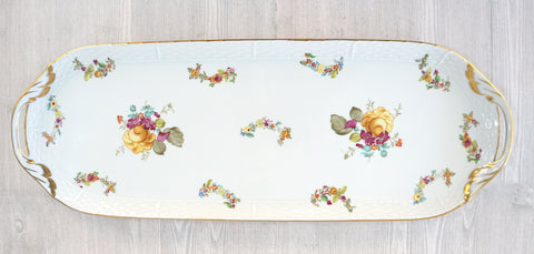 "HEREND 19"" Oblong Serving Tray Liechtenstein Grand MINT"