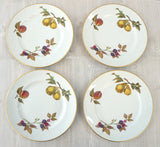ROYAL WORCESTER EVESHAM 8 Porcelain Sandwich Dessert Salad Plates 8 inches