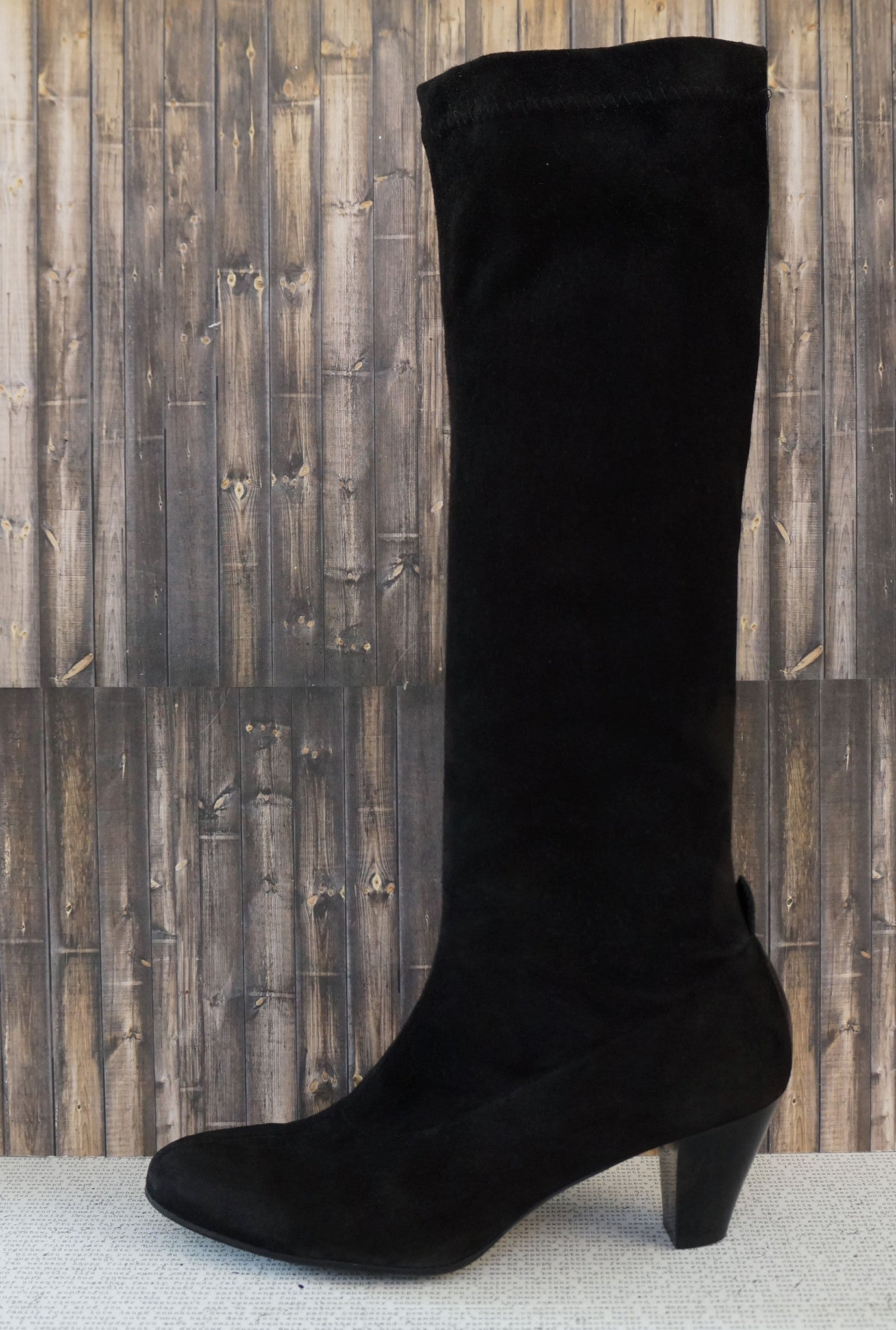 e69e89d1f1c ROBERT CLERGERIE Suede Stretch Knee Boots