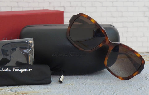 SALVATORE FERRAGAMO Sunglasses SF704SR 214 Tortoise NEW