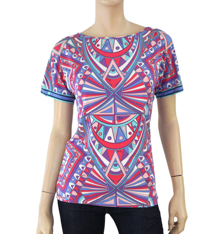 EMILIO PUCCI Printed Stretch-Jersey Top, Small