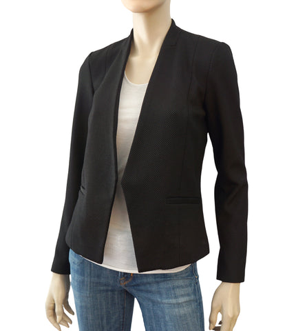 ARMANI EXCHANGE Black Open Front Blazer Jacket 2 NEW WITH TAGS