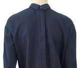 MARNI Cotton Denim Plunge Front Long Sleeve Top Blouse Shirt XS NWT