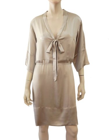 STELLA MCCARTNEY Silk Charmeuse Pussy Bow Dress w/Tags, IT 38 / US 2