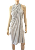 ALL SAINTS Striped Jersey Scarf/Beach Cover Up, One Size