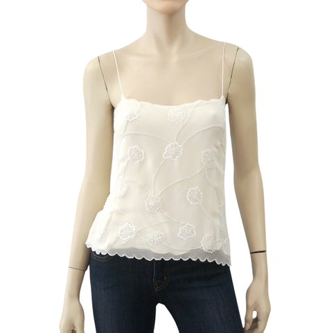 RALPH LAUREN BLACK LABEL Embellished Ivory Silk Camisole Top 8