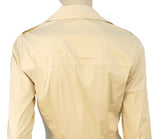 BAILEY 44 Yellow Beige Cotton Blend Zipper Long Sleeve Lightweight Jacket Top M