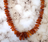 Rare Russian Antique AMBER NECKLACE 98 grams 32 inches