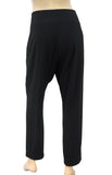 SEDUCTIVE High Waist Althea Black Stretch Crepe Pants Wrap Effect 40 US 10