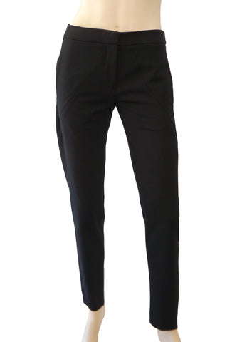 MAISON MARTIN MARGIELA Black Wool Tapered Leg Pants 42 US 6 NEW WITH TAGS