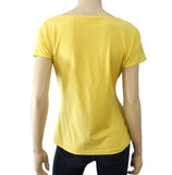 AKRIS PUNTO FR44 Lemon Yellow Stretch Cotton Top 12 NEW