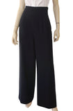 VALENTINO BOUTIQUE Vintage High Waist Wide Leg Black Crepe Pants 10 12