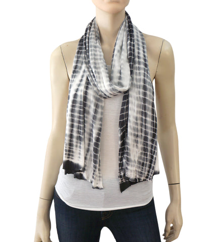 ALL SAINTS Striped Stretch-Jersey Scarf