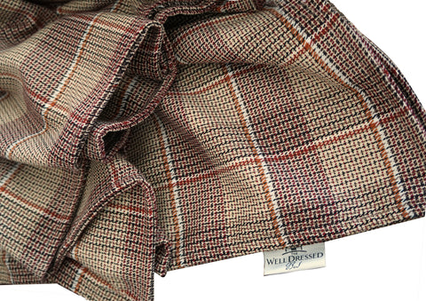 THE WELL DRESSED BED Hunter Tattersall Plaid Throw Blanket 70 x 53