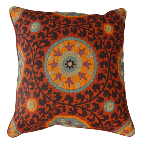 THE WELL DRESSED BED Tribal Threads Sunset Accent Pillow with INSERT 26 x 26