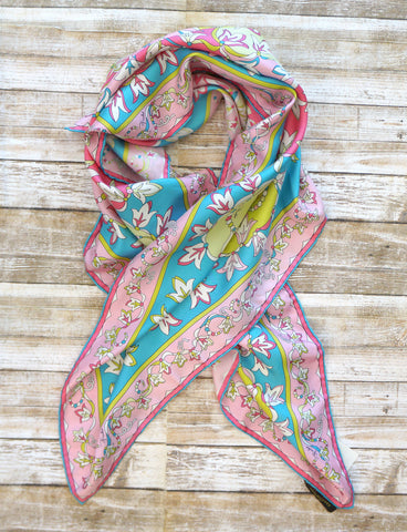 EMILIO PUCCI Multi-Color Silk Twill Scarf