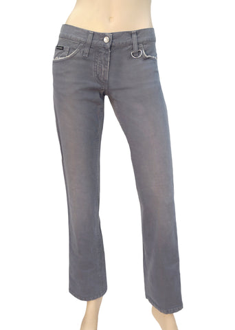 DOLCE & GABBANA Women's Jeans Low Rise Cement Gray Straight Leg 2 IT 38