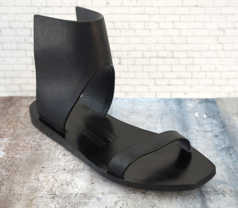 RICK OWENS Leather Sandals, 39/8.5