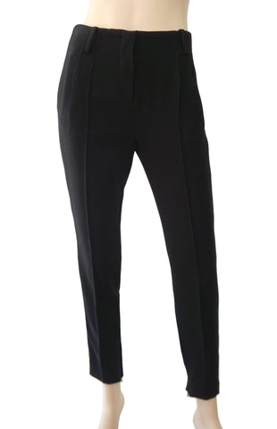 BALENCIAGA Black Wool Tapered Skinny Cropped Pants IT 38 Ankle Zip Trousers 2 4