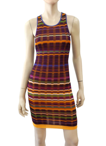 MISSONI MARE Swim Cover-Up Multi-Color Striped Dress 8 NEW