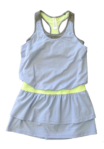 IVIVVA Girls 12 Periwinkle Blouson Tennis Golf Dress BRAND NEW