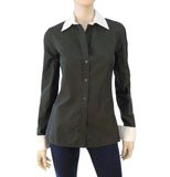 GUCCI Iridescent Button Down Blouse w/ Tags, IT 40 / US 4