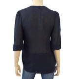 STELLA McCARTNEY Sheer Silk Blouse w/ Tags, EU 38 / US 4