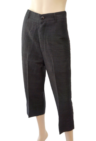 RICK OWENS Silk Drop Crotch Pants, IT 38 / US 4