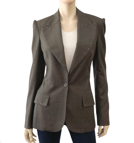 STELLA MCCARTNEY Studded Wool Blazer w/ Tags, IT 42/ US 6