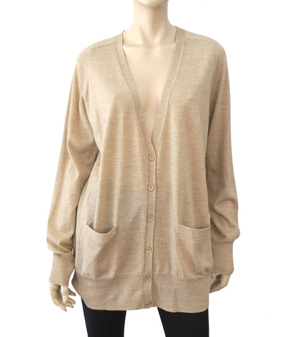J CREW Beige Merino Wool Long Cardigan Sweater XL NEW WITH TAGS