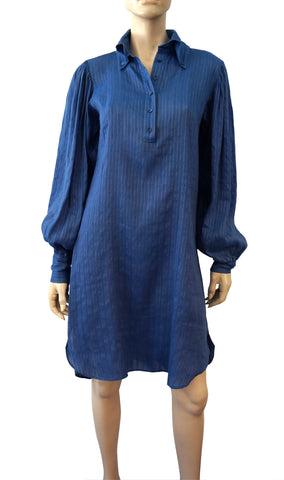 ALEXANDER MCQUEEN 2005 Balloon Sleeve Linen Blend Tunic Shirt Dress 40 US 4