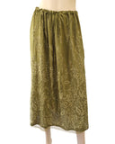 CHAN LUU Embroidered Silk Shantung Maxi Skirt, Medium