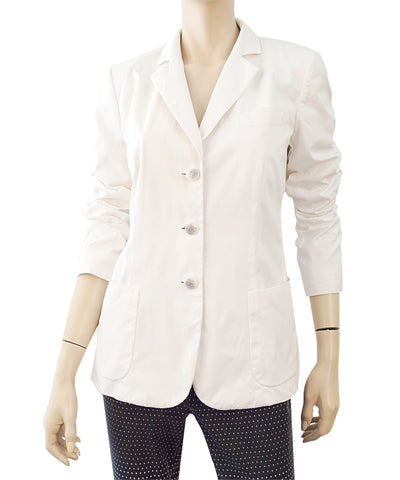GIORGIO ARMANI COLLECTION White Cotton Poplin Blazer Jacket 46 US 10