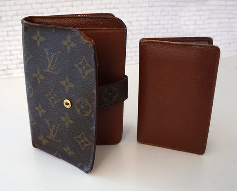 LOUIS VUITTON Vintage LV Mono Large Bi-Fold Wallet Zip Coin Pull Out Photo