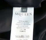 ALEXANDER McQUEEN Women's Cape Black Wool Blend Scuba Jacket 40 US 4 NEW