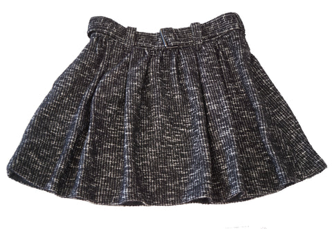 BURBERRY Girls 10 Black and White Cotton Blend Tweed Skirt
