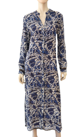 NATALIE MARTIN Printed Silk Shirt Dress, Large