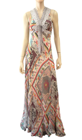 ETRO Floral Silk Maxi Dress, IT 42 / US 6