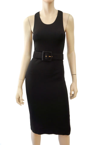 GUCCI Stretch Knit Belted Dress, Medium