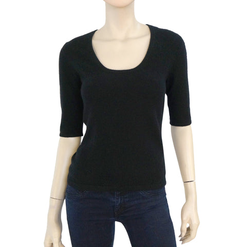MICHAEL KORS COLLECTION Black Cashmere Knit Sweater Top M