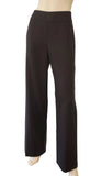 AKRIS Espresso Brown Wool Wide Leg Dress Pants FR42 US 10