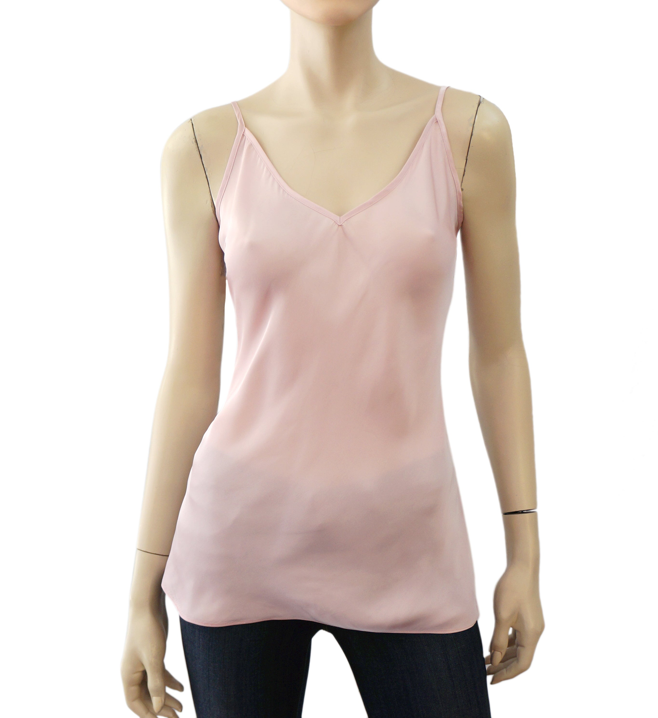 a57b4bf7234 ELIZABETH & JAMES Light Pink Silk Camisole Top L NEW – LaLaStyle