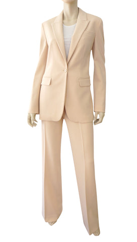 MICHAEL KORS COLLECTION Nude Stretch Wool Crepe Pants 2