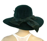 Vintage ARMAND, BEVERLY HILLS MILLINERY and SUZANNE NY Black Green Felt Hats