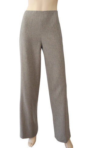 RALPH LAUREN COLLECTION Melange Gray Wool Straight Leg Pants 10 12