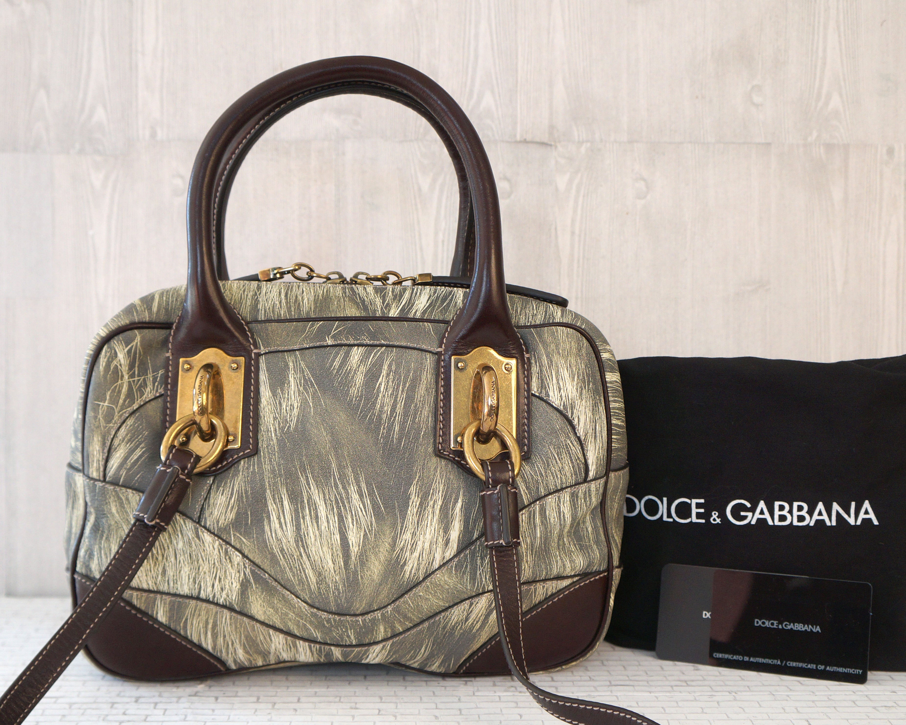 ... DOLCE GABBANA Miss Edge Small Leather Bowling Shoulder Top Handle Bag  NEW super popular ad55d 33138 ... cedb8749e7996