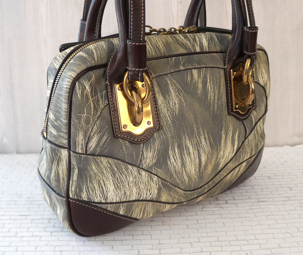 DOLCE GABBANA Miss Edge Small Leather Bowling Shoulder Top Handle Bag . dddd48eed40c4